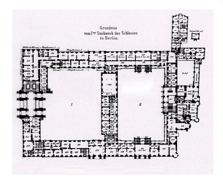 Royal Palace Berlin 1933 First Floor Plan Floor Plans