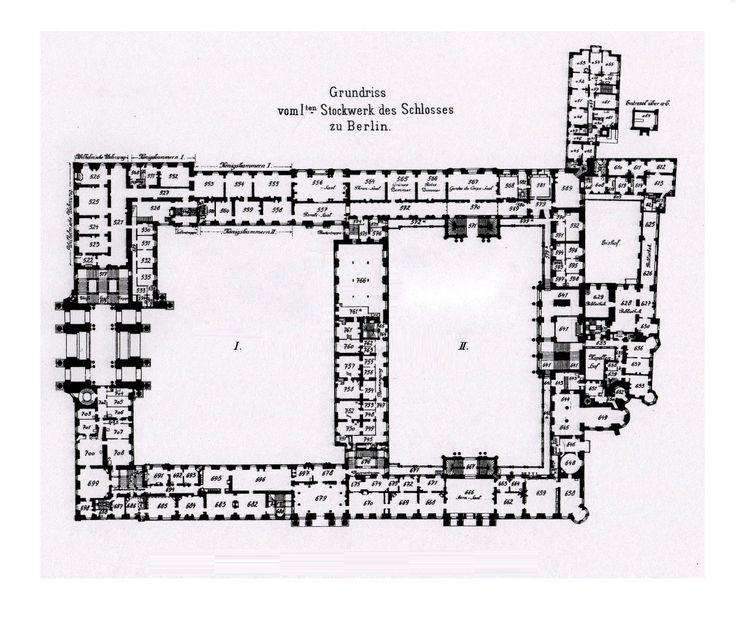 Royal Palace Berlin 1933 First Floor Plan Floor Plans