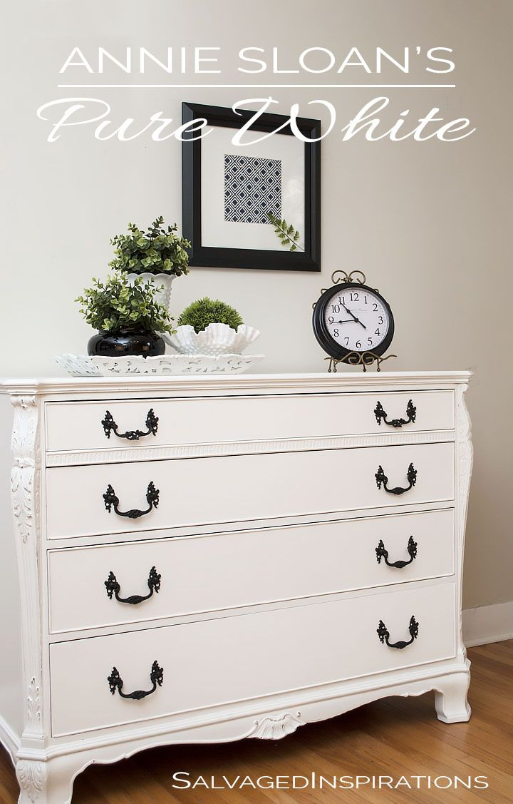 Pure White Chalk Paint   Buffet Makeover   Salvaged Inspirations ...