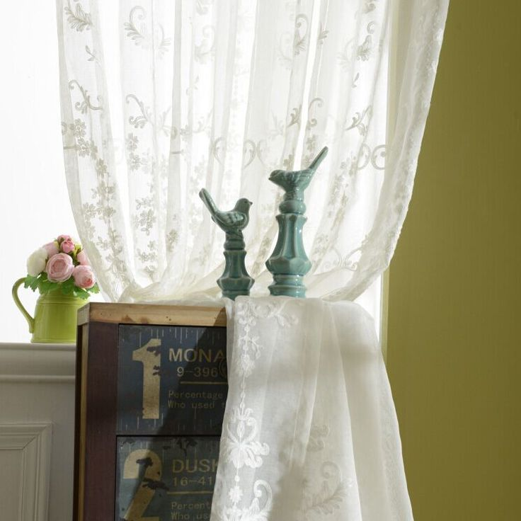 Tulle curtains luxury embroidered white sheer curtain voile panel living room window treatment balcony transparent door curtain-in Curtains from Home & Garden on Aliexpress.com | Alibaba Group