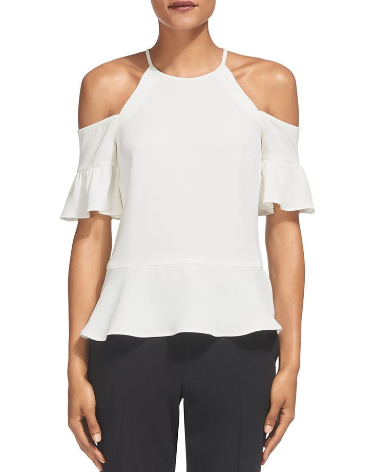 WHISTLES Whistles Adele Cold Shoulder Top. #whistles #cloth #