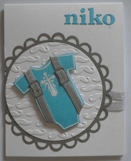 make a card - baby boy Christening card