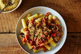 Vegan Lentil Bolognese with Cashew Parmesan Recipe on Food52 recipe on Food52