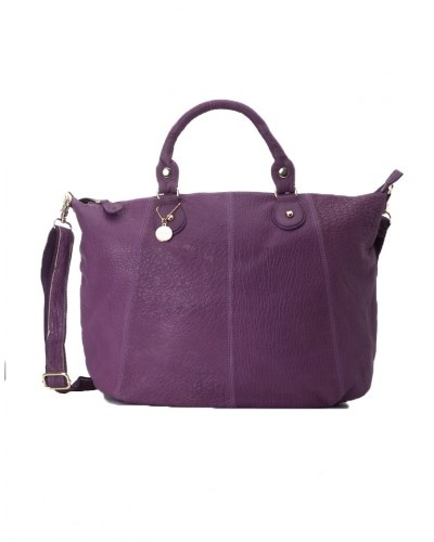 Large Purple Buffalo Leather Shopper