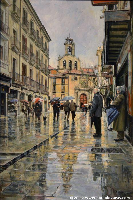 Spanish painter  Antonio Varas de la Rosa \\ SAN MARTНN. CALLE RUA