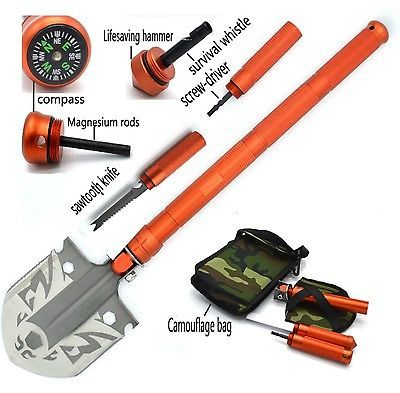 Portable Outdoor Camping Multi-function Folding Shovel Emergency Survival Tools