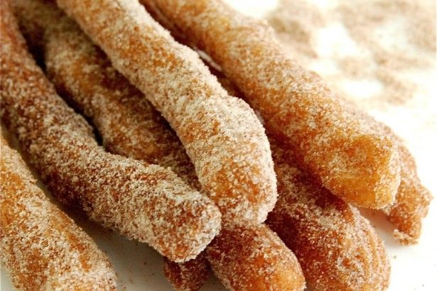 Churros. Really want to try making these. They can be made ahead and frozen - plus.