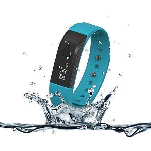 007plus T5 Smart Bracelet Bluetooth Fitness Tracker (Blue)