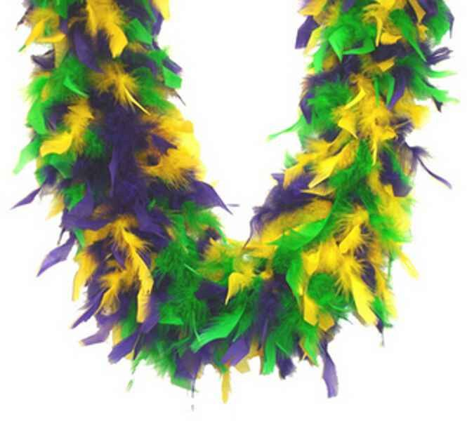 """A boa is the perfect way to spice up your outfit or party! This fluffy mardi gras boa is 72"""" long and perfect for all of your costume needs!"""