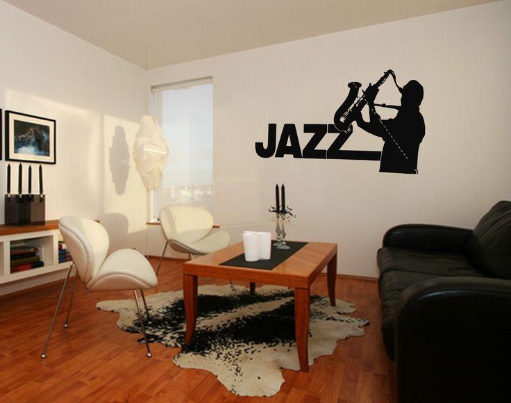 ik211 Wall Decal Sticker Decor jazz sax man playing saxophone music musician
