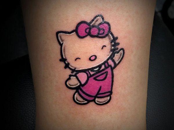 bing.com/hello kitty tatoos   25 Pretty Hello Kitty Bow Tattoo Designs - SloDive