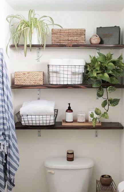 43+ Ideas for wood shelves above toilet sinks   – ◆Wood◆ – #Ideas #Shelves #…   – most beautiful shelves