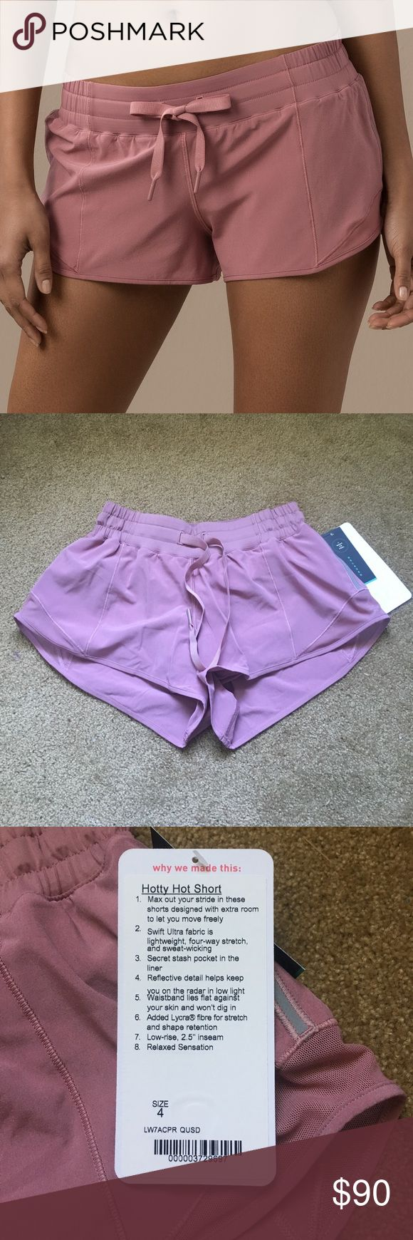 Lululemon Hotty Hot Short Quicksand NWT. Stock photo and photo with the tags show true color. Has zipper pocket and pocket in the liner. This color is now sold out in size 2 and 4. No rude comments about price. You will receive one pair in the selected size. lululemon athletica Shorts