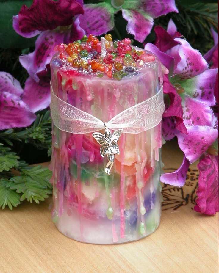 Faerie Muse . Herbal Alchemy Magick Candle 2x3 . Ambrosia . For Faerie Magick, Sight, Nature Spirit Workings. $ 13.95, via Etsy.