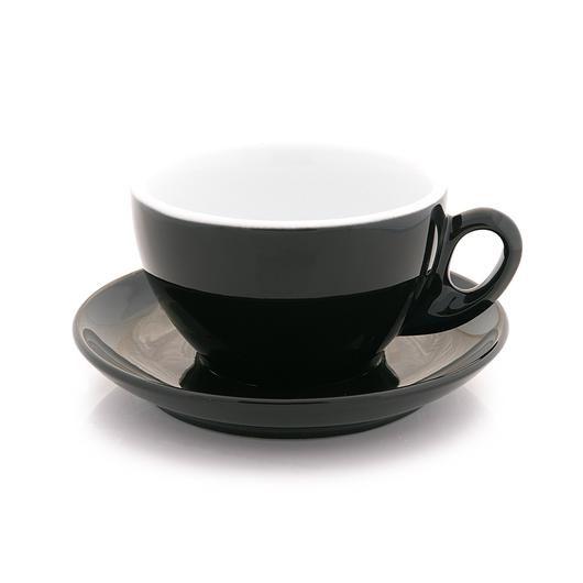 Inker black cappuccino cup 7 oz demitasse