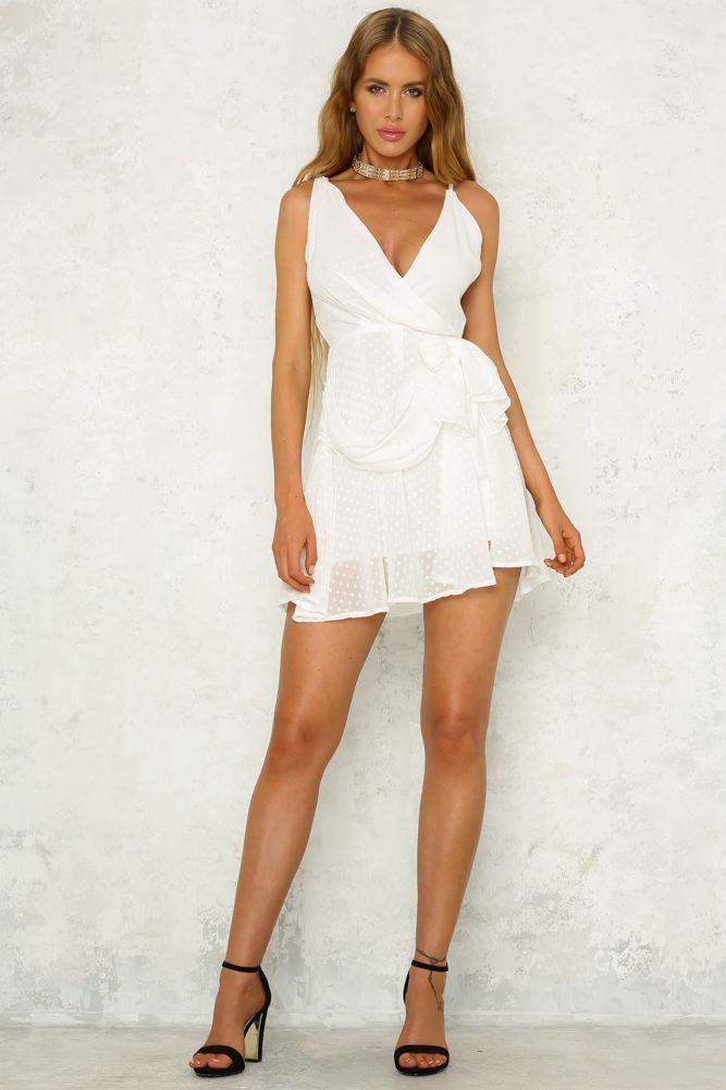 White Blank Page Dress White