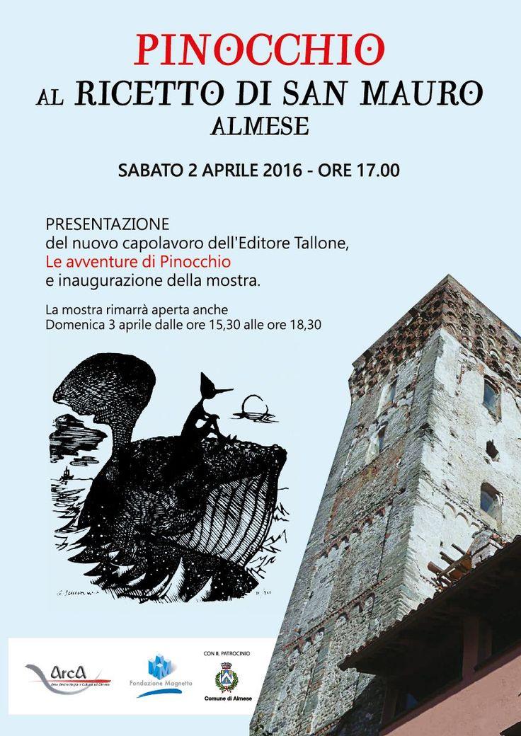 Ad Almese presentazione del Pinocchio stampato dall'editore alpignanese Tallone negli spazi espositivi del ricetto di San Mauro,