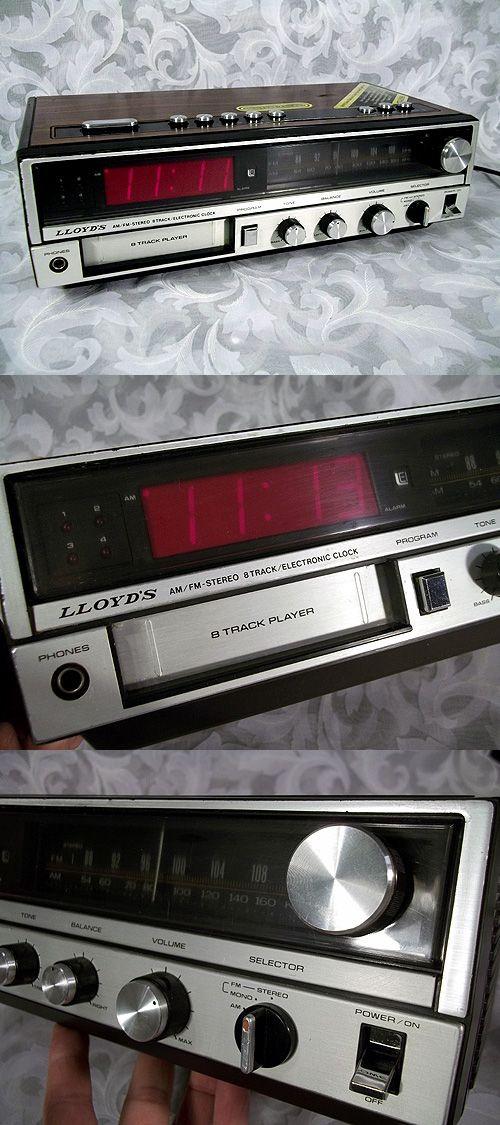 Sold Vintage Lloyd S Am Fm Stereo 8 Track Clock Radio