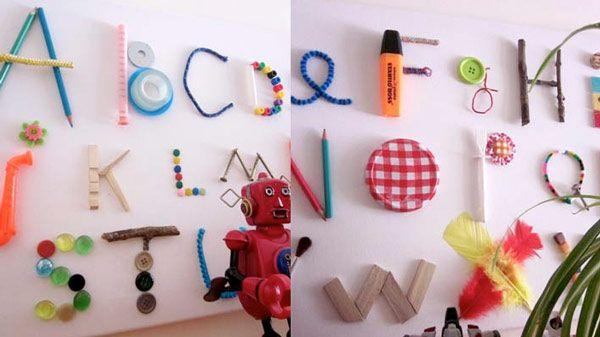 alphabet recyclé