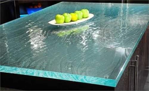 Custom Glass Countertop by ThinkGlass on HomePortfolio, sun room counter