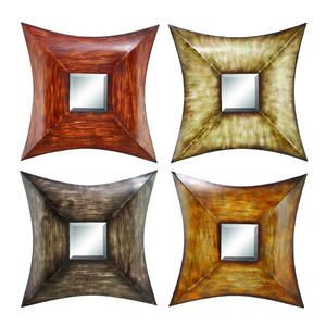 Assorted Metal Mirrors: Metals Mirror, Wall Decor, Decor Ideas, Wall Mirror, Mirror Sets, Rustic Mirror, Mirror Wall, Multicolored Metals, North Wall