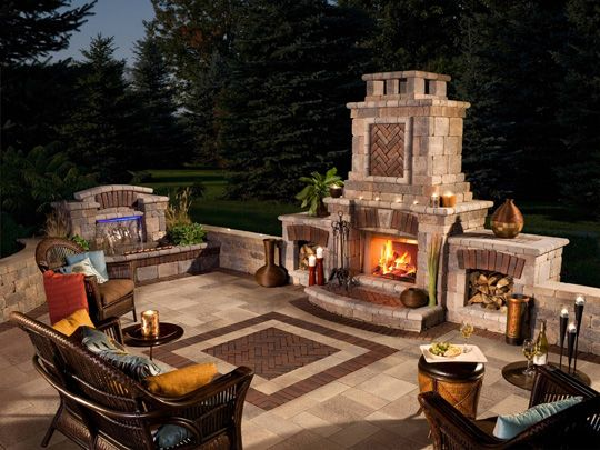 wonderful outdoor fireplace designs - Patio Fireplace Designs