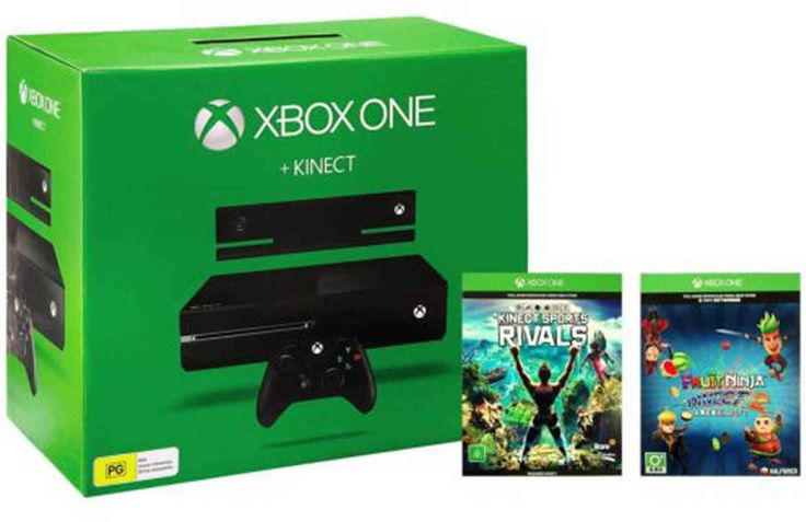 Microsoft Xbox One 500GB Kinect Console (With Fruit Ninja 2, Kinect Rivals DLC)