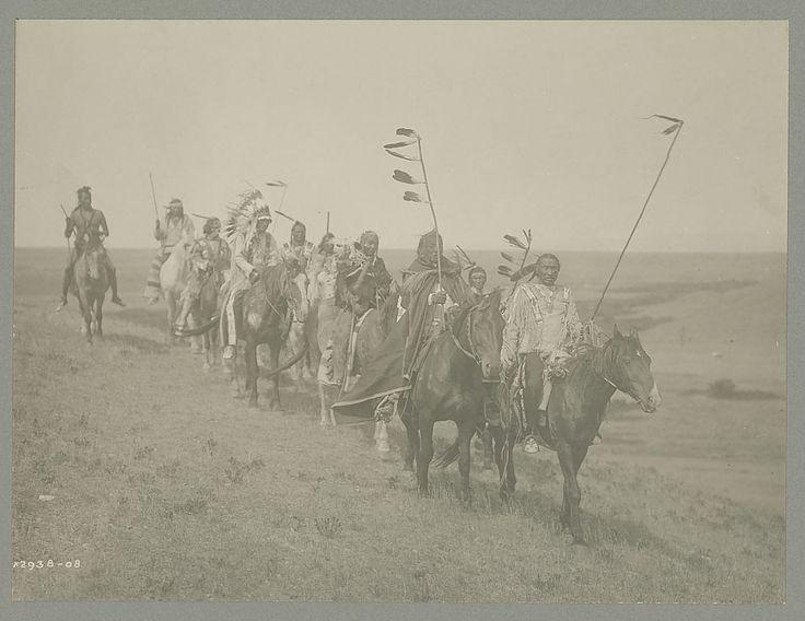 """""""На военной тропе"""". Атсина, 1908. Фото Кёртис."""
