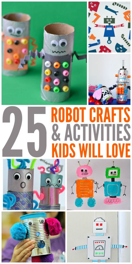 25 Robot Crafts and Activities for Kids - The Taylor House