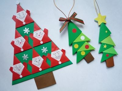 折り紙で出来るカワイイくてオシャレなクリスマス飾りのアイディア集です。随時更新!