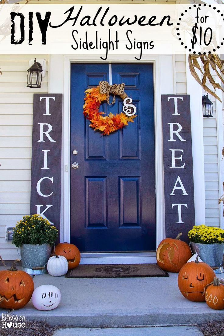 DIY Halloween Sidelight Signs by Blesser House | Halloween Favorites at www.andersonandgrant.com