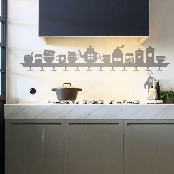 10-602 naklejka ścienna szablon malarski 'kuchnia' :: naklejkidekoracyjne.net