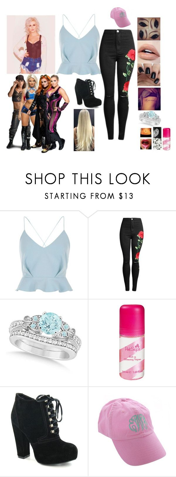 """""""Leah-Confronts Alexa Bliss, Mickie James , Natalya and Becky Lynch *Read D*"""" by thefuturemrsambrose ❤ liked on Polyvore featuring River Island and Allurez"""