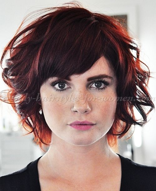 short wavy hairstyles for women - wavy A line bob hairstyle with ...