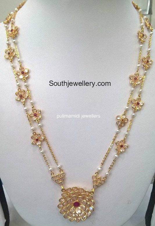 Antique Long Chain latest jewelry designs - Page 3 of 54 - Jewellery Designs