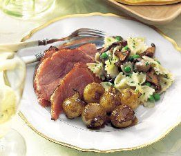 Honey-Glazed Baked Ham Dinner Menu and Recipes, Easter Dinner, Whats Cooking America