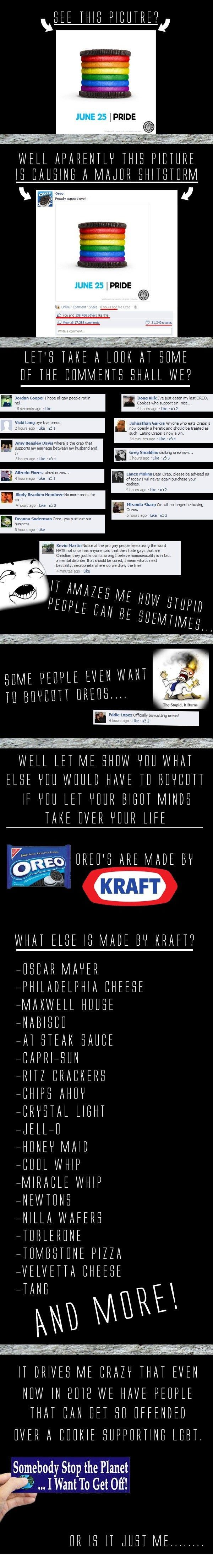 Really?? Boycotting a food becuz the makers have a different opinion then you seems a little dramatic...
