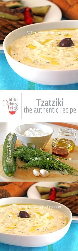 The authentic recipe for homemade Tzatziki: This is the traditional recipe used in Greece. Easy and quick to make, rich, creamy and delicious. An awesome healthy appetizer and the perfect garlicky condiment for your grilled meats. #tzatziki #recipe #Greek #traditional