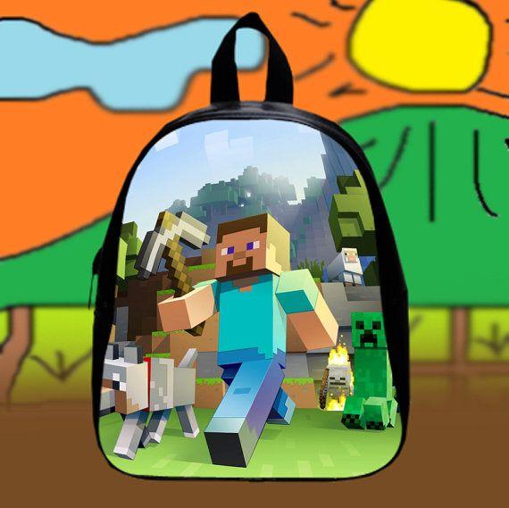 Minecraft Crepper Games  Custom SchoolBags Backpack by KopiHitam55