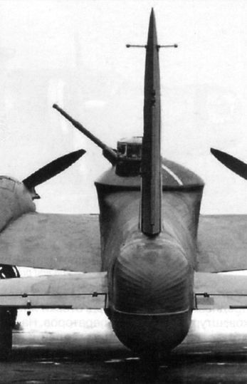 "bmashina: ""Experimental interceptor Wellington Mk.II, with the tower installation of a 40-mm gun Vickers-S. it was Assumed that they can shoot enemy bomber formations from long distances. """