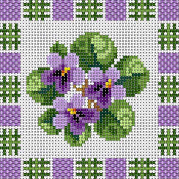 Violets With Border