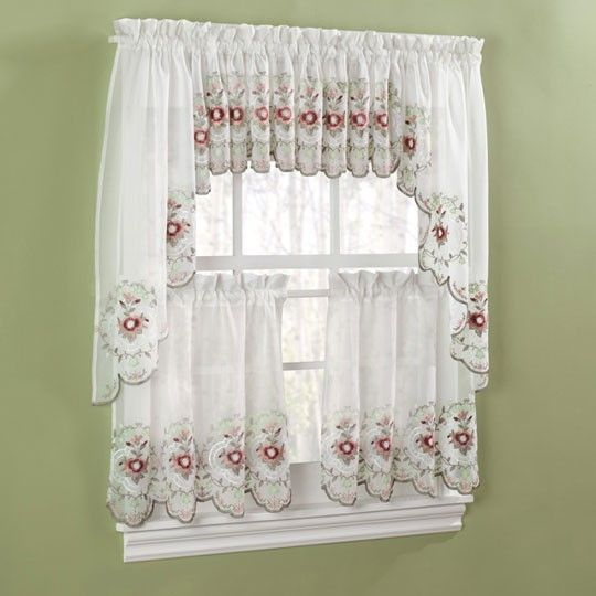 Kitchen Curtains With White Cabinets: Kitchen Curtains, Curtains And Roses On Pinterest