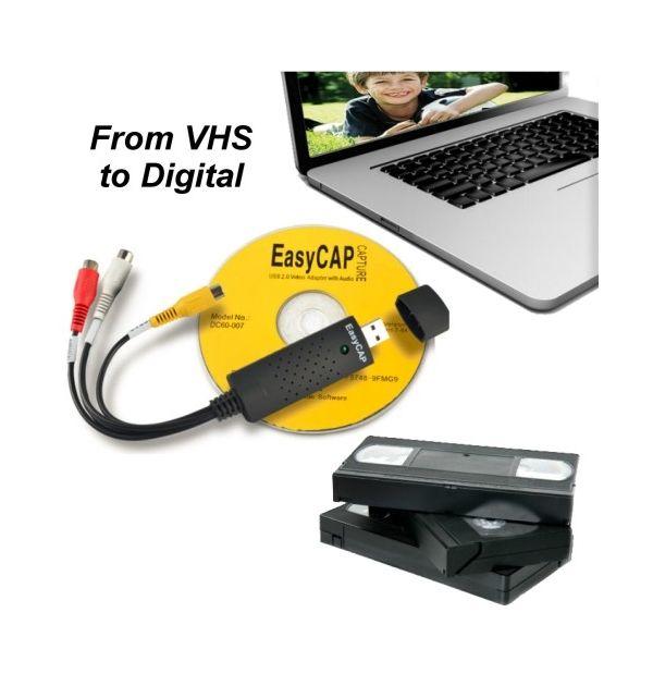 EasyCAP: Konverter VHS til Digital - Overfør VHS bånd til DVD / Computer