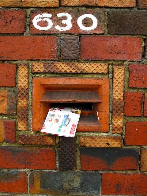Different~~ a brick letter box