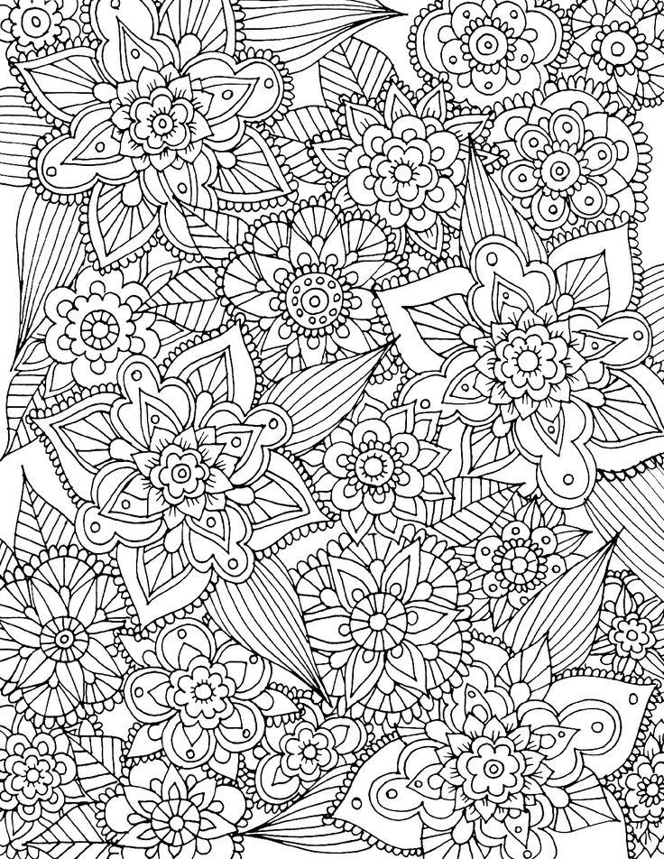Раскраски антистресс открытки, букет цветов тебе