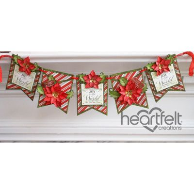 Heartfelt Creations - Sparkling Poinsettia Banner Project