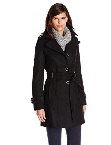 Women's black wool coat sale