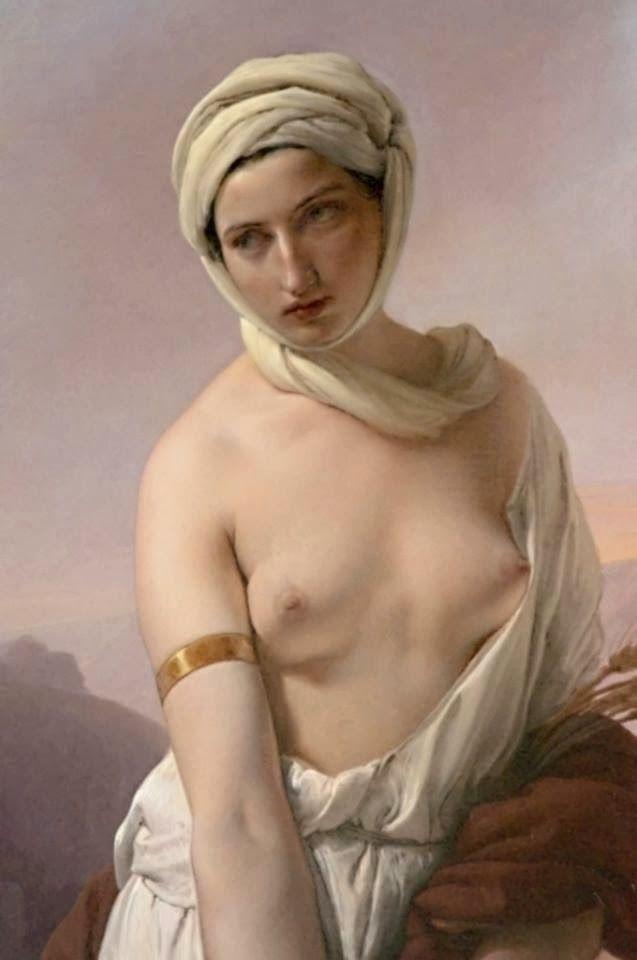 Ruth (detail) by Francesco Hayez, la modella di questo quadro potrebbe essere stata proprio Carolina.