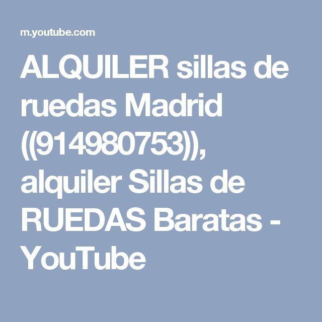 ALQUILER sillas de ruedas Madrid ((914980753)), alquiler Sillas de RUEDAS Baratas - YouTube