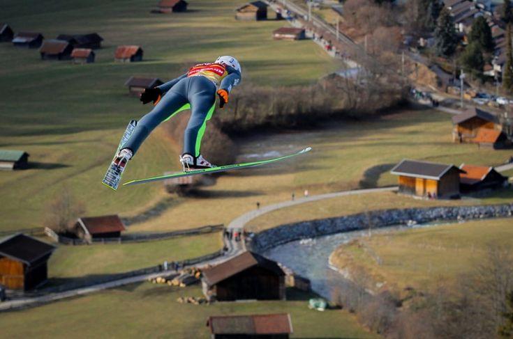 Kamil Stoch of Poland during the FIS Ski Jumping World Cup Vierschanzentournee (Four Hills Tournament)   in Garmisch-Partenkirchen, Germany